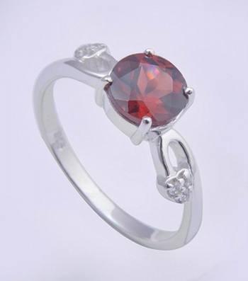 Silver Rings With Garnet Gemstone Rings