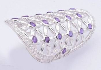 Amethyst Gemstone Rings, 925 Sterling Silver Rings