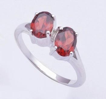 Sterling Silver Rings, Garnet Gemstone Rings