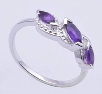 Silver Rings, Amethyst Gemstone Rings