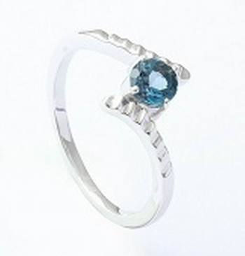 Sterling Silver Ring With Blue Topaz Gemstone