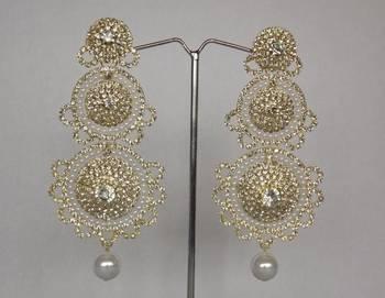Dazzling Diamonds Studded Danglers