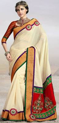 Full bember Georgette  Saree