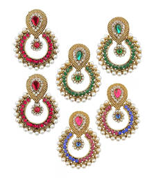Buy Designer women Looking Earring Set Combo Of three danglers-drop online