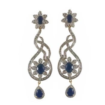 988cee21fc3 Blue american diamonds danglers-drops - REJEWEL - 1213188