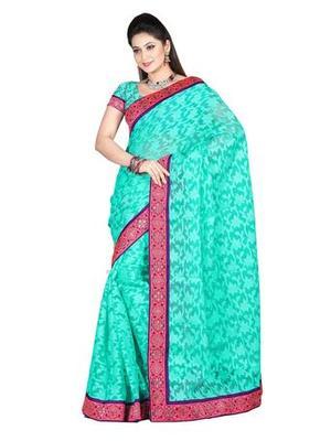 Zoom Fabric nett butta Saree 2436