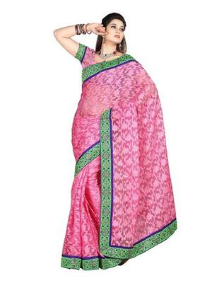 Zoom Fabric nett butta Saree 2437