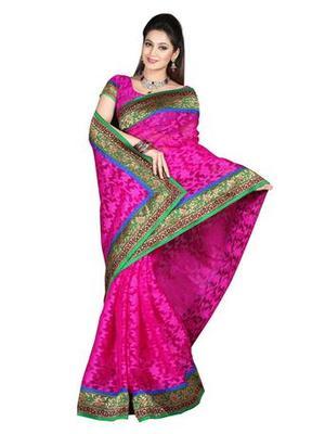 Zoom Fabric nett butta Saree 2441