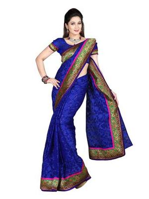 Zoom Fabric nett butta Saree 2448