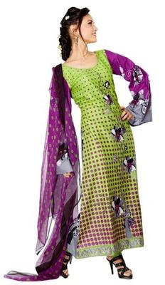 Triveni Adorable Green Indian Ethnic Salwar Kameez TSXKRSK1203