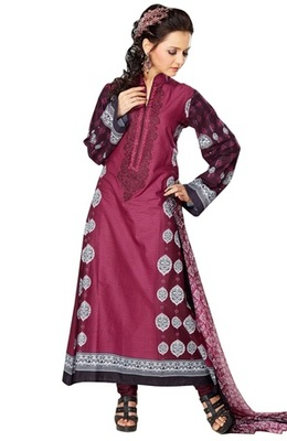 Triveni Adorable Maroon Indian Ethnic Salwar Kameez TSXKRSK1212