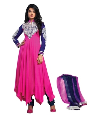 Triveni Charismatic Pink Indian Traditional Anarkali Suit TSXSNSK5550