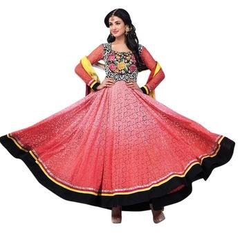 Triveni Charismatic Pink Indian Traditional Anarkali Suit TSXSNSK5560
