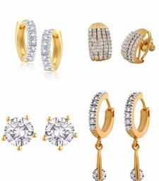 Buy American diamond earrings - Pack of 4 women-ethnic-wear online