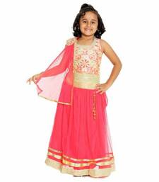 Buy Pink color soft net designer kids lehenga choli kids-lehenga-choli online