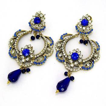 Victorian Queens Crown Dangler Royal Blues