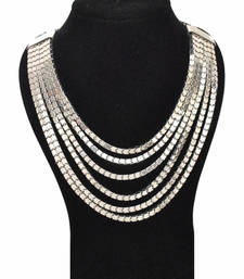 Buy The Bling Necklace-Silver necklace-set online