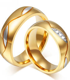 pieces Couples Rings  Gold Plated for Men Women Cupid Heart Wedding Bands shop online