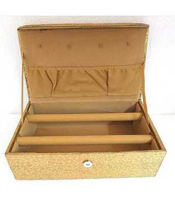Two Line Bangle Box Golden