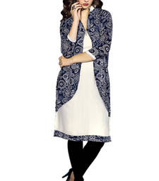 Multicolor georgette printed stitched kurti