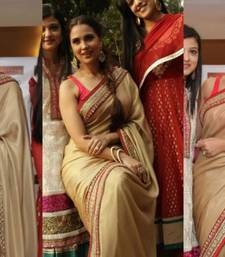 Lara dutta brown saree shop online
