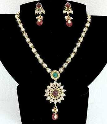 Polki Multi Necklace Set