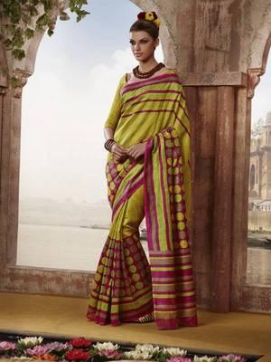 Lovely Bhagalpuri Printed saree