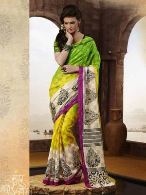Beautifully Designed Bhagalpuri Printed saree