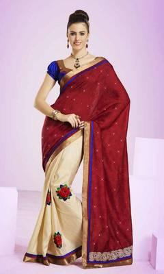 Embellished Embroidered Designer Saree