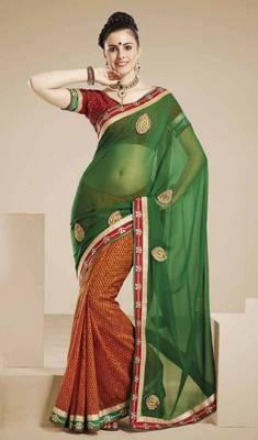 Sensious Green Designer Saree
