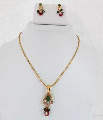 Gold Dazzling Necklace Set