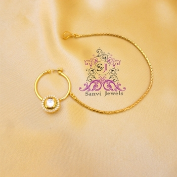 Kundan & Zircon Nose ring