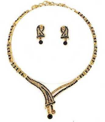 Designer Black Necklace Set