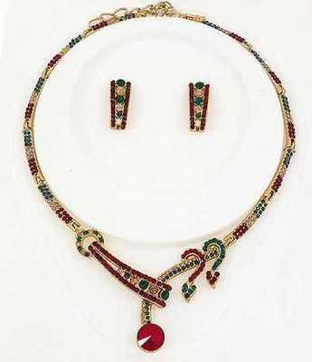 Designer Multi Stone Necklace Set