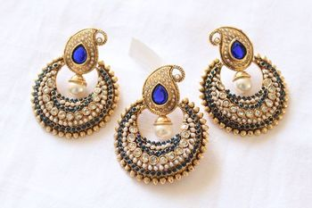 Blue Chand Pendant Set