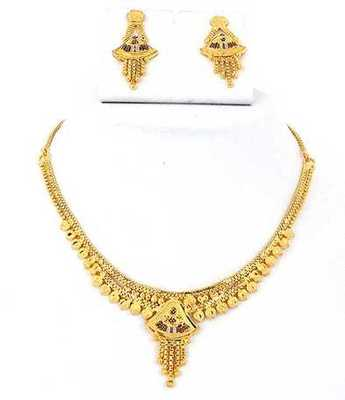 Beautiful Gold Necklace Set