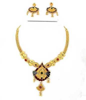 Simple Golden Necklace Set