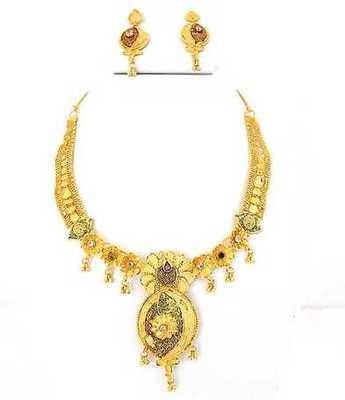 Golden Beautiful  Necklace Set