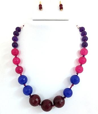 Semi Precious Onex Multy Color Necklace Set