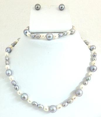 Fancy Kalki Pearl Necklace Set