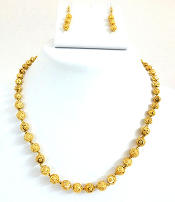 One Gram Gold Plated Big Size Necklace Set