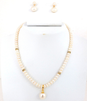Pearl Pendent Necklace Set