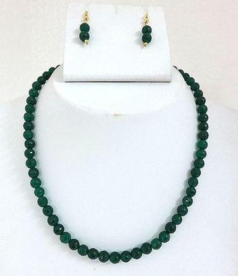 Green cutting onyx  mala