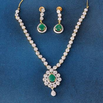 Beautiful Designer AD Diamond Necklace