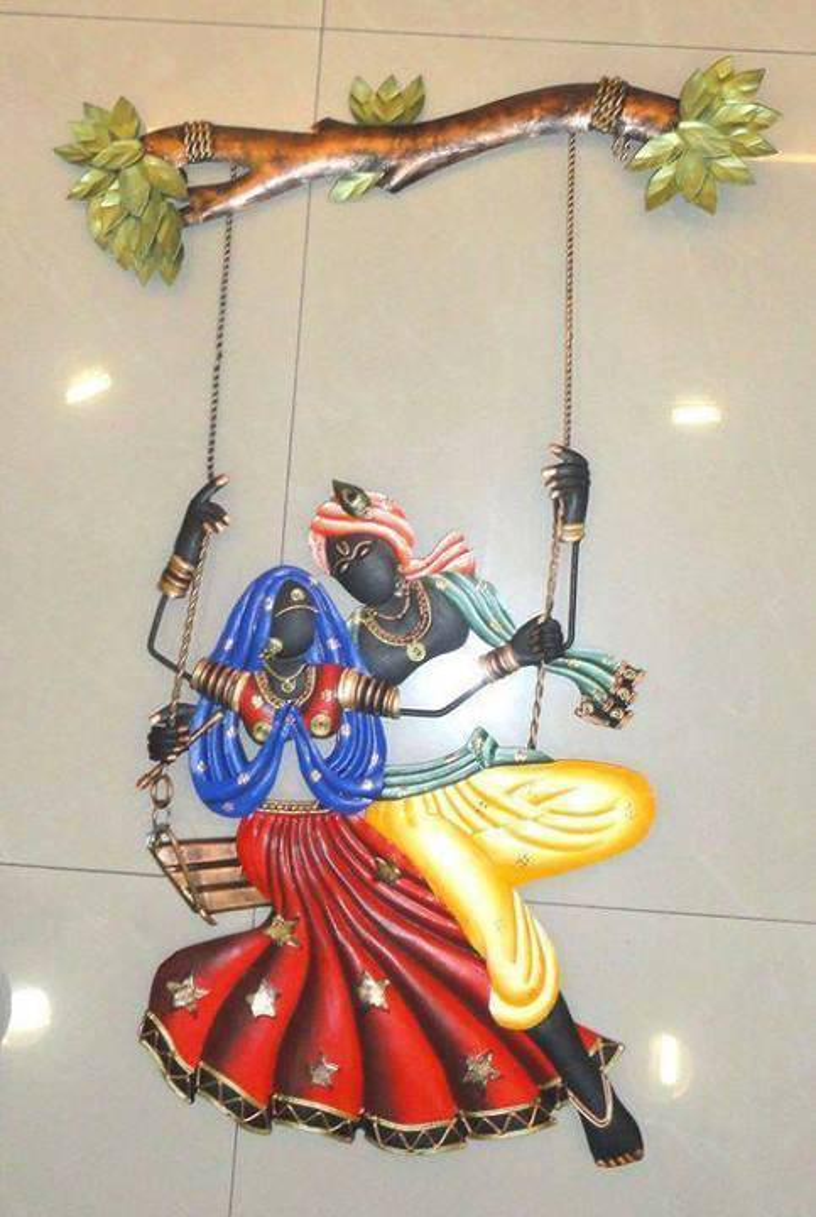 buy diwali deocorations radha krishna under jhula online