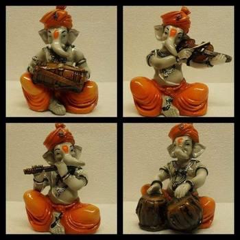 Set of 4 Instrumetal Ganesha