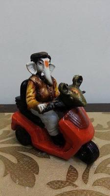Ganesha Riding Bike