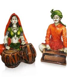 Rajasthnai Couples Playing Tabla & Harmonium