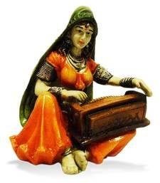 Rajasthani Lady Playing Harmonium