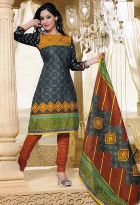 Dress Material Elegant Cotton Printed Unstitched Salwar Kameez Suit D.No M1603